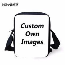 3cd2b5a2951f1 INSTANTARTS Nach Eigenen Bilder Handtaschen für Schule Jungen Mädchen  Kinder Mini Umhängetaschen Marke Design Kinder Reise