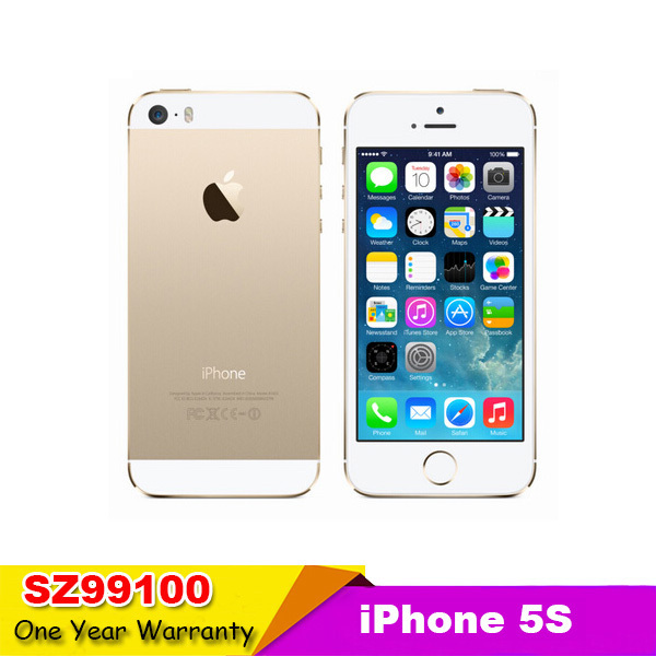 Apple Iphone 5S Phone Original Unlocked 5S gift phone original  iOS 8MP Camera 1GB RAM 16GB/32GB/64GB ROM Touch ID Fingerprint