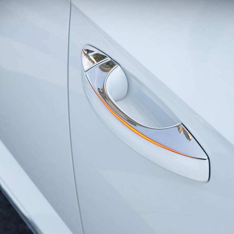 lsrtw2017 titanium black stainless steel car door handle trims decoration for volkswagen arteon 2017 2018 2019