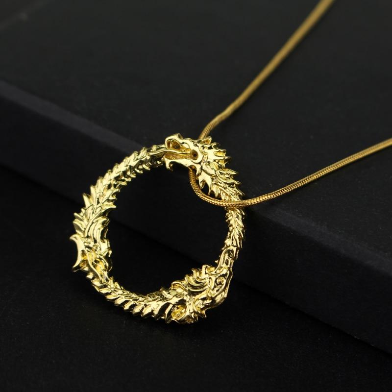 Fashion Jewrly Dragon Skyrim Elder Scrolls Gold Halskette Tritium - Modeschmuck - Foto 6