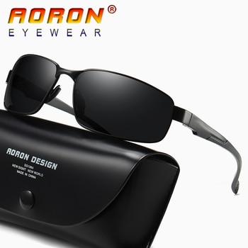 c4a6789b6d AORON de los hombres de la marca cuadrados Vintage gafas de sol polarizadas  UV400 lente gafas