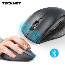 Tecknet Bluetooth Беспроводной Мышь эргономичный 2.4 ГГц компьютер Мыши компьютерные 2600/2000/1600/1200/800 Точек на дюйм для оконные рамы ноутбука Тетрадь PC
