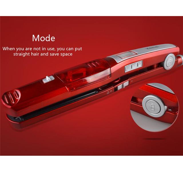 Fast Heating Ceramic Steam Hair Straighteners & Styling Tool Dry & Wet