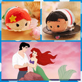 Free Shipping TS Ariel Little Mermaid and Prince Eric 2pcs/lot mobile screen cleaner keychain bag hanger um plush toys gift