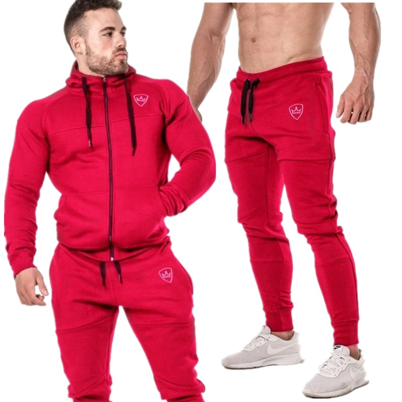 New Brand Tracksuit Fashion Men 2-piece Set Hoodie+Pants Cotton Gyms Sportswear Jogger Suit Spring And Fall Casual Streetwear