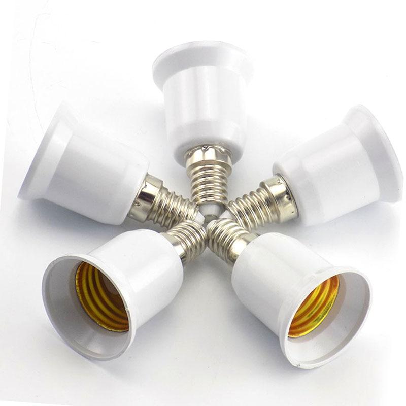 1PCS E14 to E27 Lamp Holder Converter 220V Light Bulb Adapter Conversion Fireproof Socket Base Converters Lighting Accessories