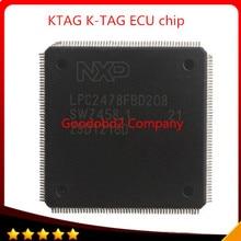 Бесплатная доставка Best цена автомобиля чип автомобилей KTAG K-тег программирования ЭКЮ инструмент для ремонта автомобиля чип с 500 жетонов