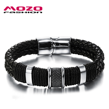 Mozo clasps charm bracelets magnetic stainless male steel bracelet vintage jewelry