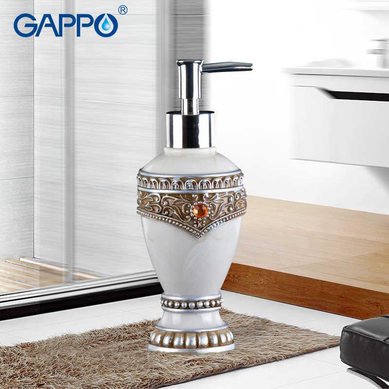 GAPPO dozowniki mydła w płynie żywica pompka do mydła łazienka importowanej żywicy butelka wanna akcesoria łazienkowe dozowniki mydła