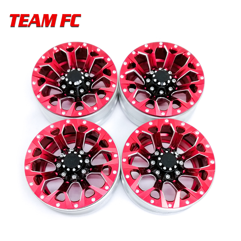 4Pcs Aluminum Alloy 1 9 Beadlock Wheels Rims for 1 10 RC Crawler Axial SCX10 SCX10