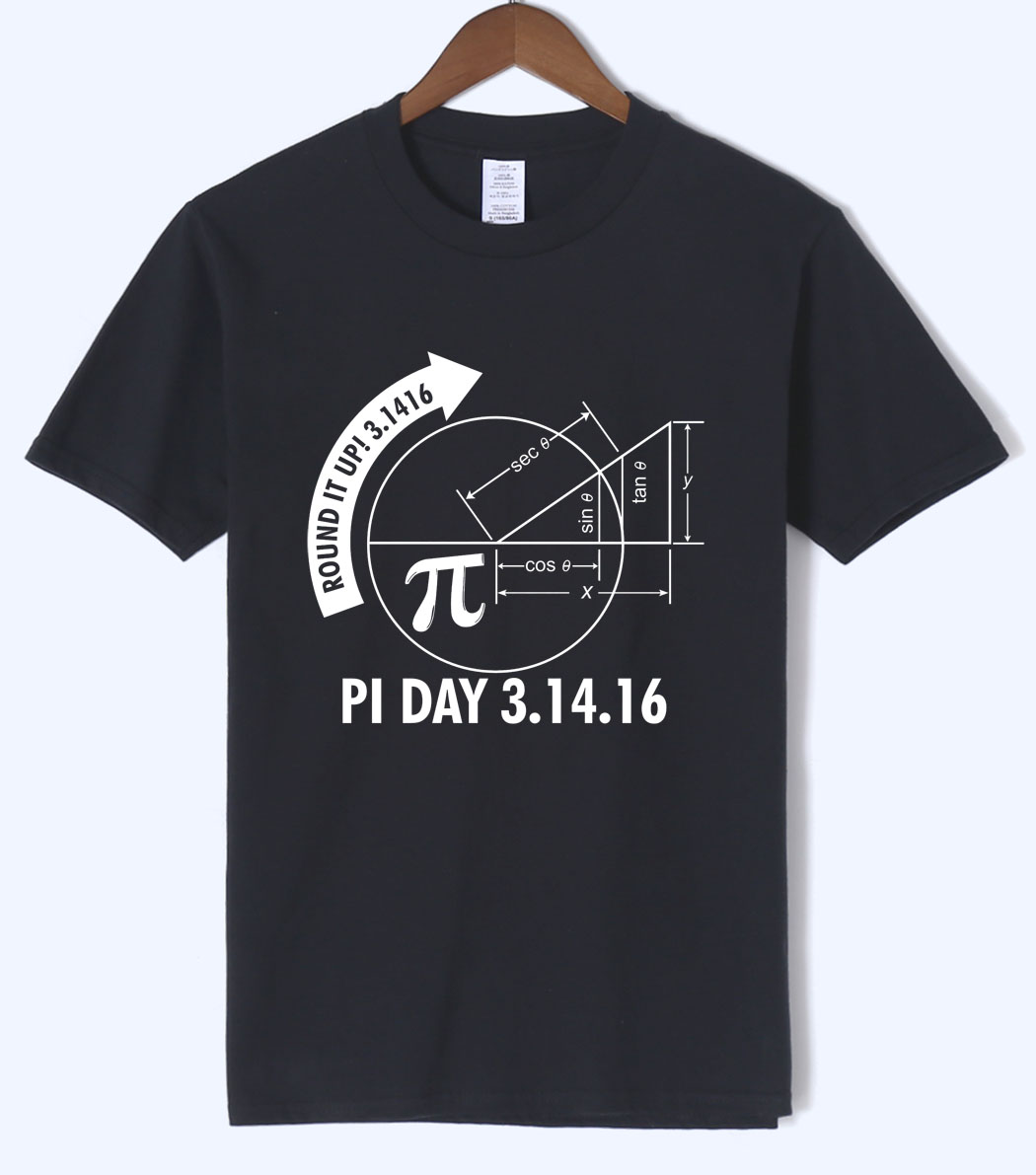 Pi Day 3.1416 Round It Up Math Graph T Shirt Summer New Mens TShirt Cotton High Quality Short Sleeve Harajuku Round Neck T-Shirt