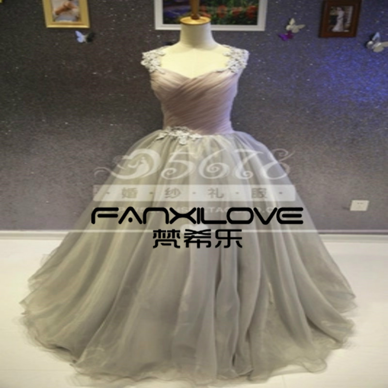 Fanxilove Custom soot bean paste color spell color dress simple atmospheric  fold increase tutu dress was thin Wedding Gown-in Wedding Dresses from  Weddings ... 2d2512ca56d0