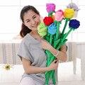 Atacado flor do casamento brinquedo de pelúcia Coloreful Rose dia dos namorados para meninas