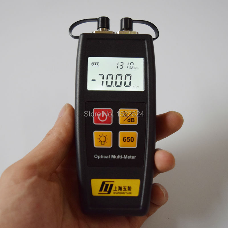 YJ-550A Fiber Optic Mini Optical Power Meter -70~+6dBm And Visual Fault Locator 10mw