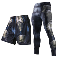 3D Print Men Summer Causal Shorts Men Skinny Pants 3D Pattern Batman Bodybuilding Jogger Fitness Skinny