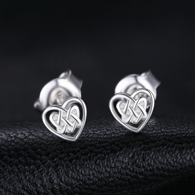 Caged Hearts Stud Earrings