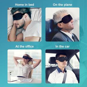 Image 3 - Snore stopper Anti Snore eye mask Prevents snore Black Comfortable Sleep eye mask Snoring Solution Sleep Apnea Sleeping