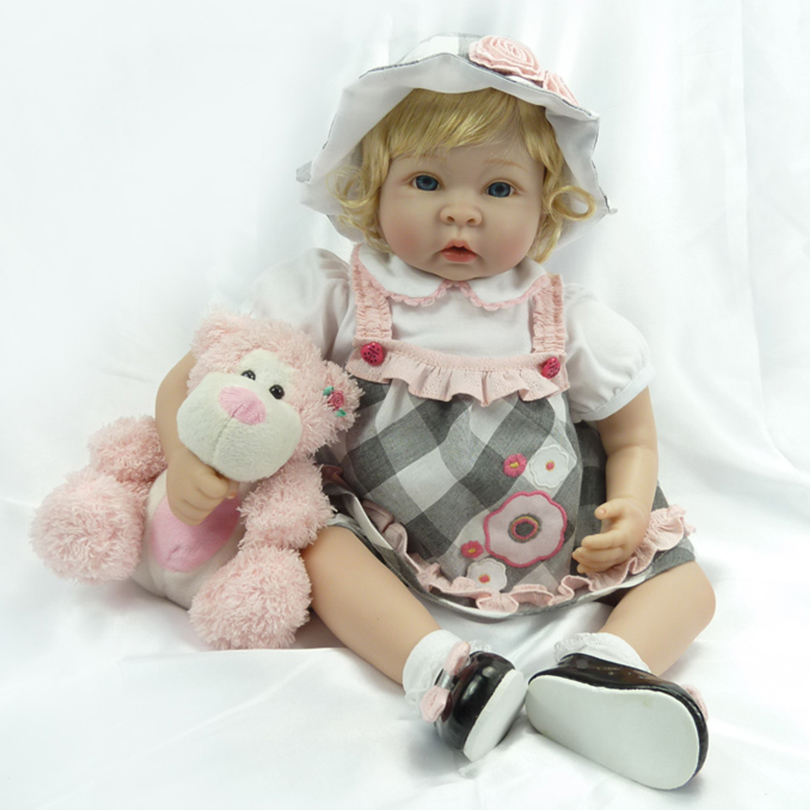 55cm Soft Silicone Reborn Baby Dolls Toy Realistic 22inch Vinyl Princess Toddler Girl Babies Alive Like Real Doll With Plush Toy car inflatable mattress car shock bed on board flocking inflatable bed separate type air cushion bed car split car bed