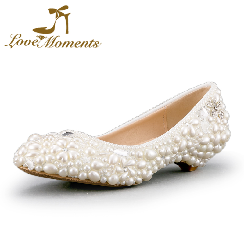 low heeled shoes wedges for women wedding shoes bridal dress shoes whitepink