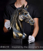 $350 # limited edition # 43CM LARGE # HOME office TOP GOOD art WORK # handmade lucky color resin feng shui HORSE statue