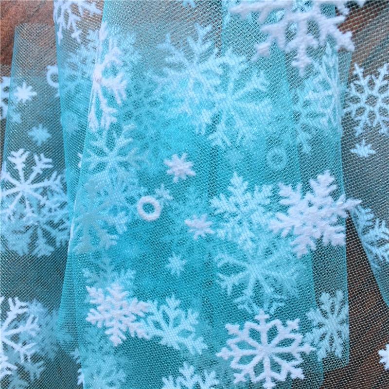 1 м/лот 150 см романтическая Снежная пряжа DIY юбка прозрачная органза тюль ткань для свадьбы, дня рождения, Нового года, Рождества, украшения
