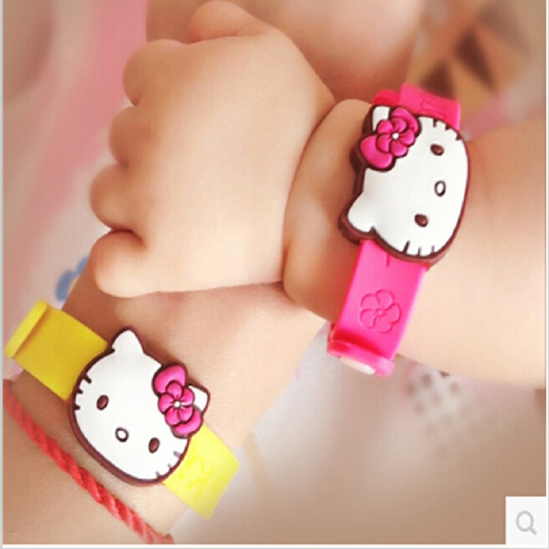 Natural Insect Anti Hello Kitty Wristband Mosquito Repellent