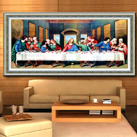Diamond Embroidery Last Supper Pictures Cross Stitch 5D DIY Round Diamond Painting Christianity Jesus Needlework 114
