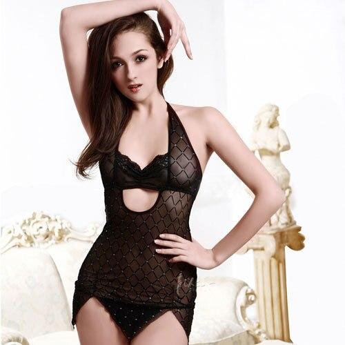2016 Nueva Moda Ropa de Spandex Resbalones de Cuerpo Completo para Las Mujeres Intimates Slip Sexy Mujeres ropa de Noche Negro con encanto