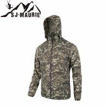Waterproof Windbreaker Mens Hunting Jackets Outdoor Tactical Hiking Hunting Jack Quick-dry Skin Cloth Camouflage Anti-UV Coat