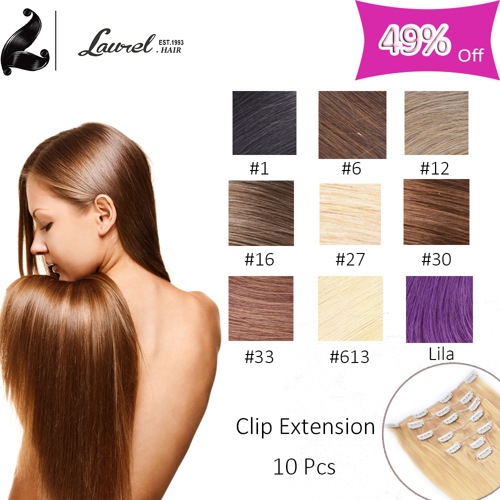 African American Clip In Human Hair Extensions 9a Grade Virgin Brazilian Straight  Hair Clip In Natural Hair Extensions 16-24″