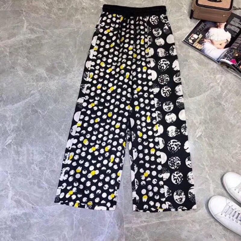 2019 décontracté lâche large jambe pantalon femmes élégant mode Preppy Style pantalon femme couleur Pure femmes nouveau Palazzo pantalon