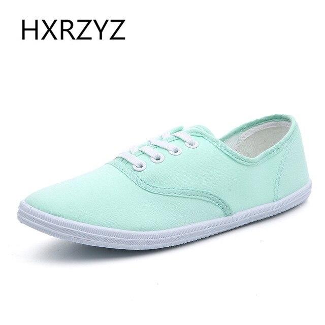 Леди конфеты цвет плоские туфли с нескользящей сухожилия в конце свободного покроя обувь кроссовки / женская обувь холст обувь больших размеров 35 - 42
