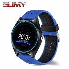 Slimy Bluetooth SIM Smart Watch Phone V9 Smartwatch Wristwatch with Camera