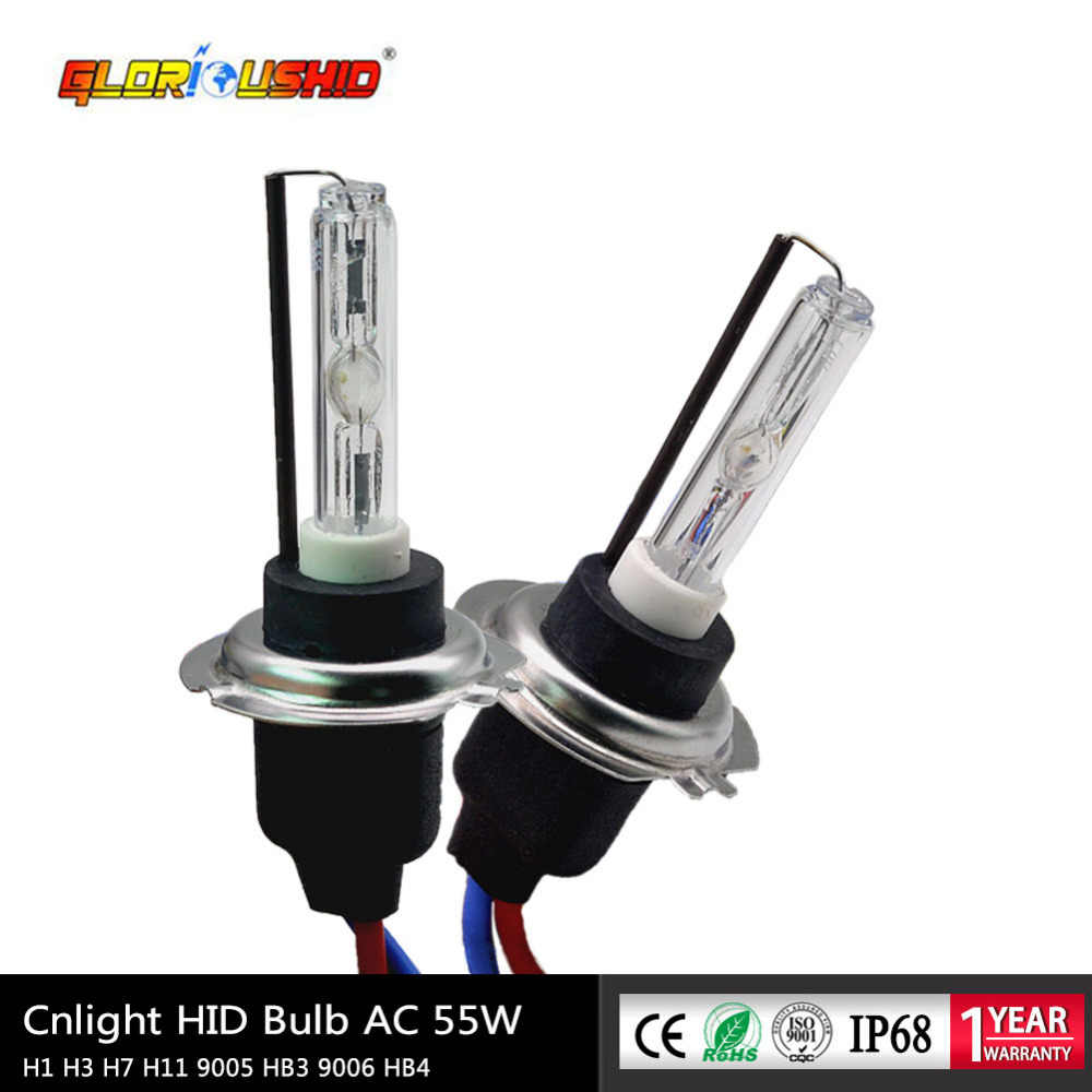 2X CNlight Xenon H7 H1 H3 H11 9005 AC 12V 55W Replacement Bulbs 6000K 8000K Hid Lamps With Ceramic Metal Base Auto Car Light