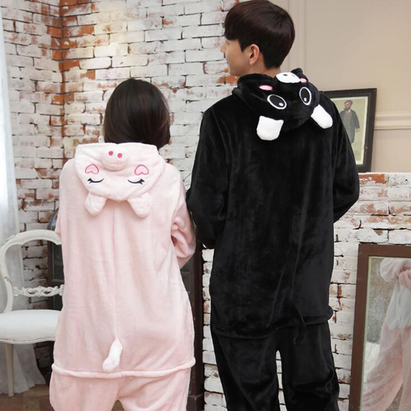 Adult Anime Kigurumi Onesie Black Wild Boar Costume For Women Animal Pig Party Onepieces Sleepwear Disguise Home Cloths Girl Boy