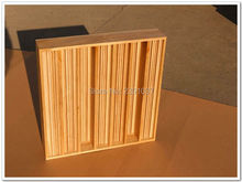 Brand New 1Box (2pieces) 60*60*11cm Wood Acoustic Panel 3D Sound Diffuser System