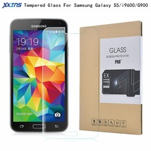 Free shipping Tempered glass For Samsung Galaxy S5 i9600 G900 Screen Protect Toughened Protective 5.1 inch film +Retail packing цена 2017