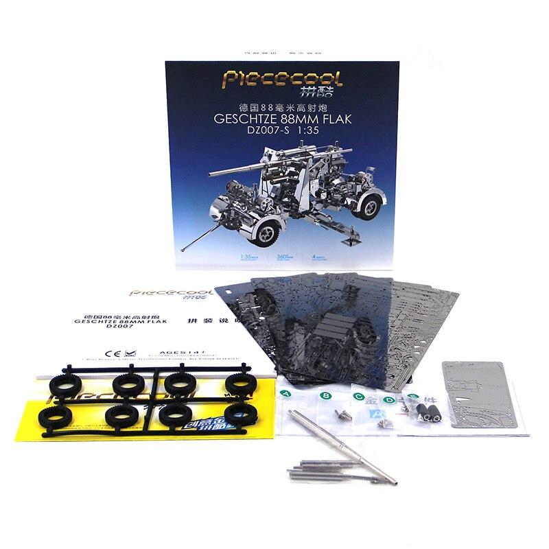3D casse-têtes en métal Modèle Allemagne 88 d'arme Antiaérien et D'artillerie Puzzle Enfant Adulte jouets éducatifs Collection De Noël Cadeaux - 3