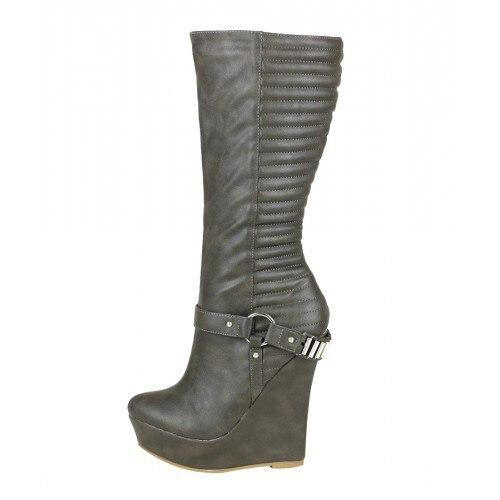 taille 40 f8bee b62c4 Bottes compensées en cuir souple noir Style hiver bottes femmes courtes  talons Extra hauts bout pointu plate forme épaisse chaussures noires
