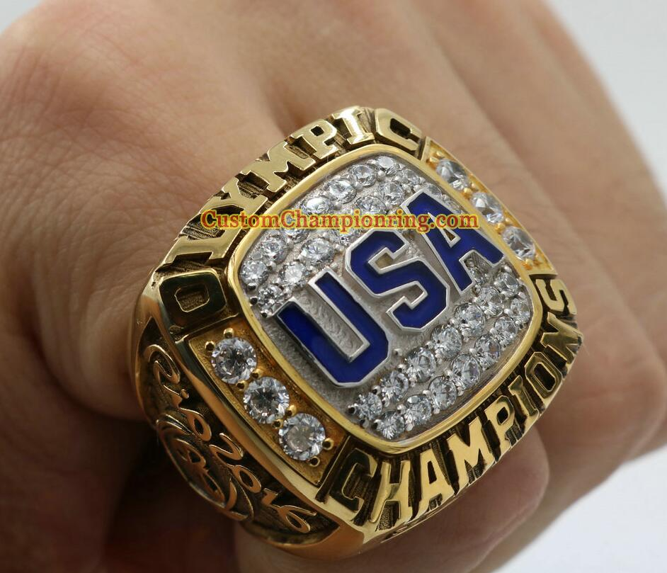 2017 The Newest 2016 USA Basketball Team Olympics Championship Ring With Wooden Box Solid