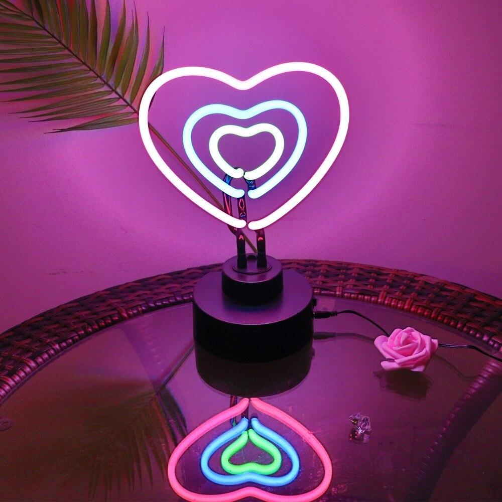 Coloré arc-en-ciel LED néon signe néon LED Tube à la main illustration visuelle Bar Club KTV fête commerciale mariage enfants chambre nuit