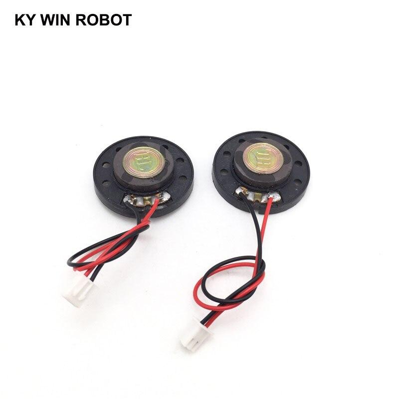 """מזגנים 2pcs / הרבה חדש דק צעצוע ברכב צופר 16 אוהם 0.5 וואט 0.5W 16R הדובר קוטר 36mm 3.6CM עם 10 ס""""מ אורך החוט מסוף PH2.54 (5)"""