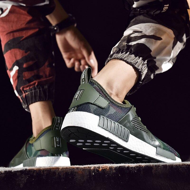Taille Green Baskets Décontracté Grande 2019 Sport camouflage Printemps Course Black Décontractées Chaussures Respirant De gray Mode Camouflage Hommes wgqTRO