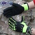 NMSafety 2 Pairs Hi-Viz Защиты От Вибрации и Ударов Перчатка Безопасности Высокой видимости Анти Ударопрочный Механика Работы перчатки