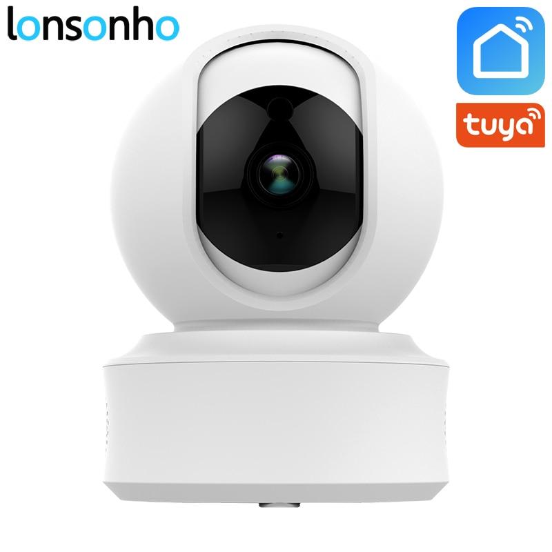 Lonsonho Wifi IP Camera Wireless Smart Home Security 1080P 2MP Two Way Audio Motion Detector IR