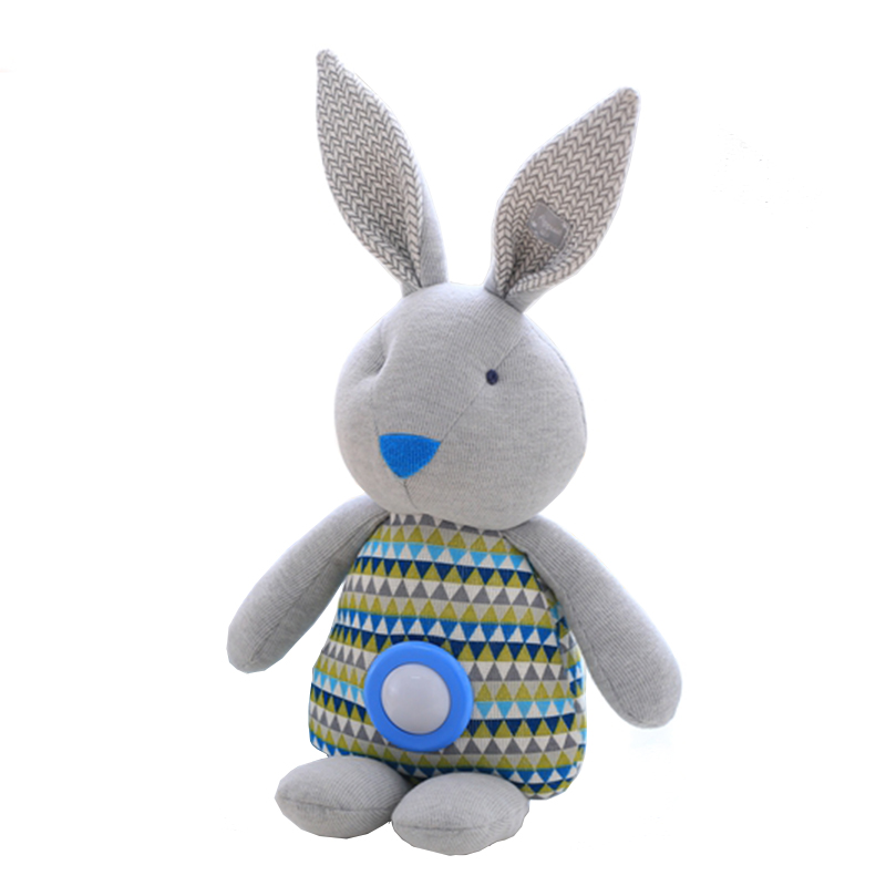 1PCS 48CM, Appease Plush Rabbit Leksaker, Plush Rabbit Luminous Accompany Sleep Doll, Babyleksaker.