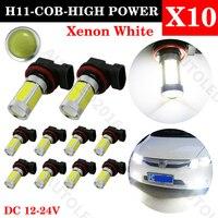 10pcs High Power H7 Led Xenon White COB Led Light H7 Lamp Auto Light Bulb Projector