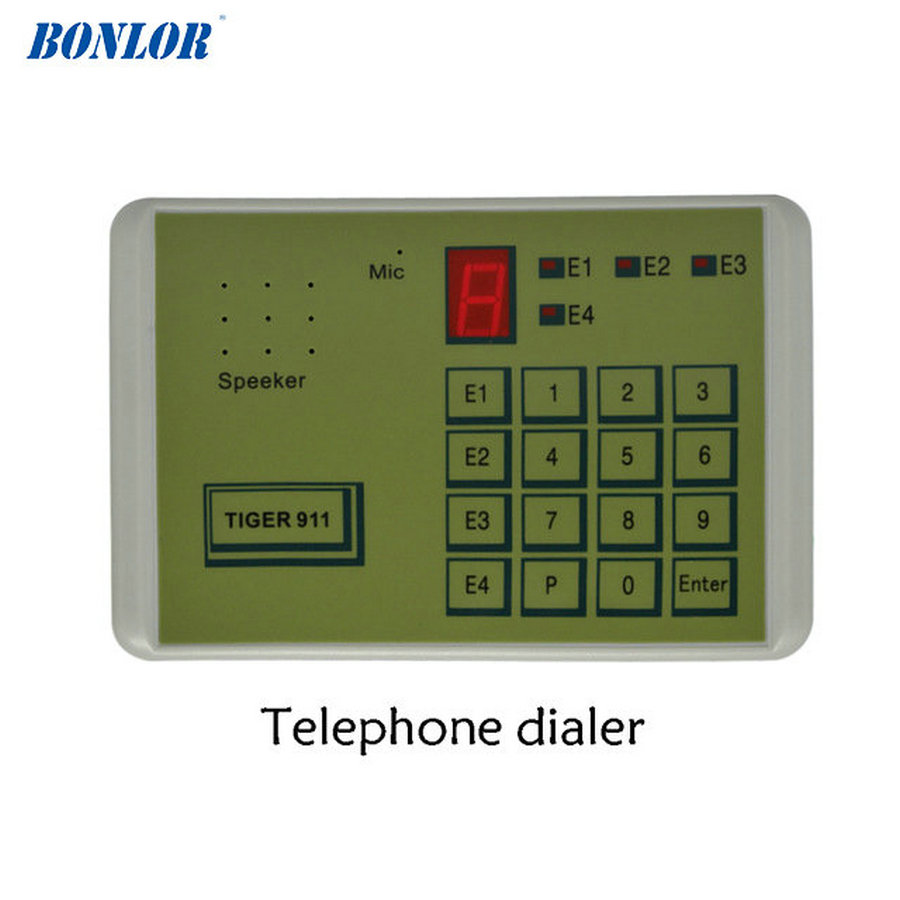 (1 STKS) Tiger 911 Auto telefoon Dialer alarmsysteem accessoires Calling Transfer Tool Vaste Terminal zet in NC GEEN of spanning