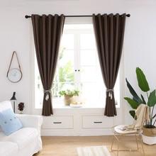 Hot  200x100cm Curtain Window Treatment Voile Drape Valance Double-deck Curtains For Living Room C514