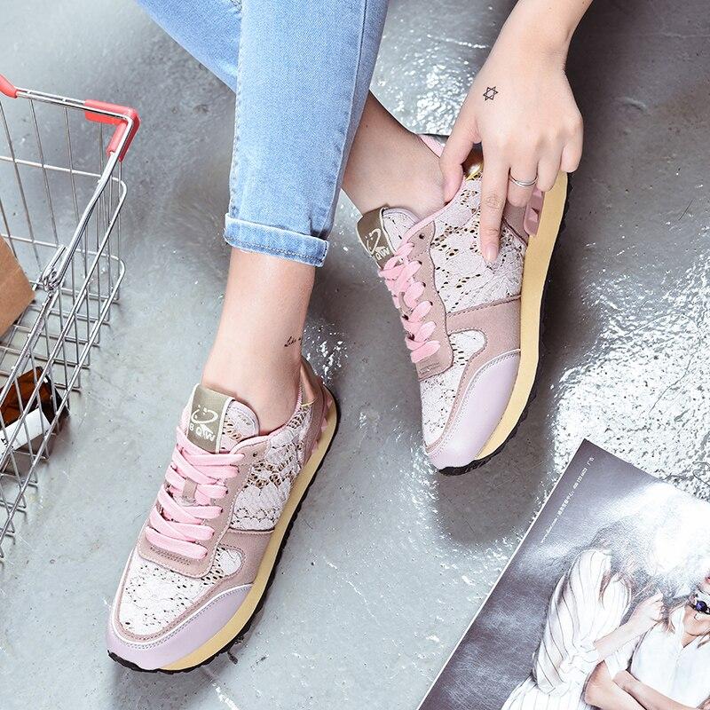 Chaussures de course en dentelle pour fe ...